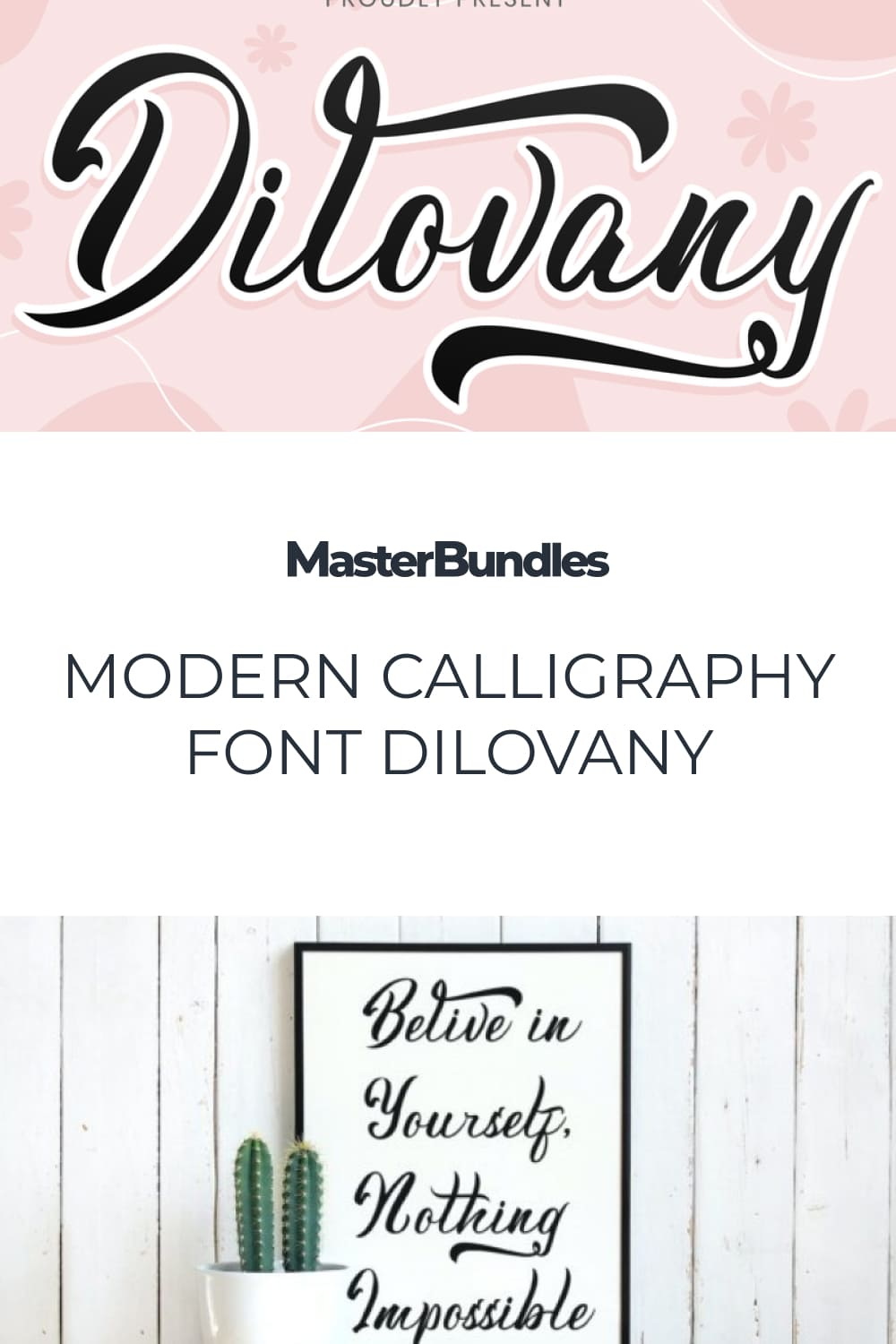 Dilovany is a Modern Calligraphy font that will give a beautiful impression to your designs.