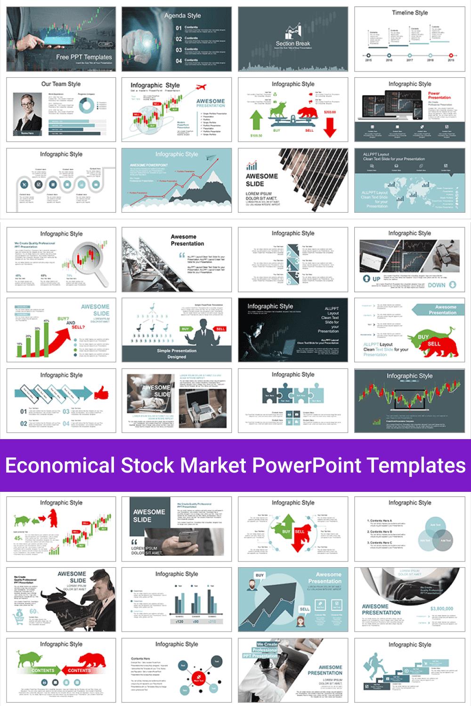 Economical Stock Market PowerPoint Templates.