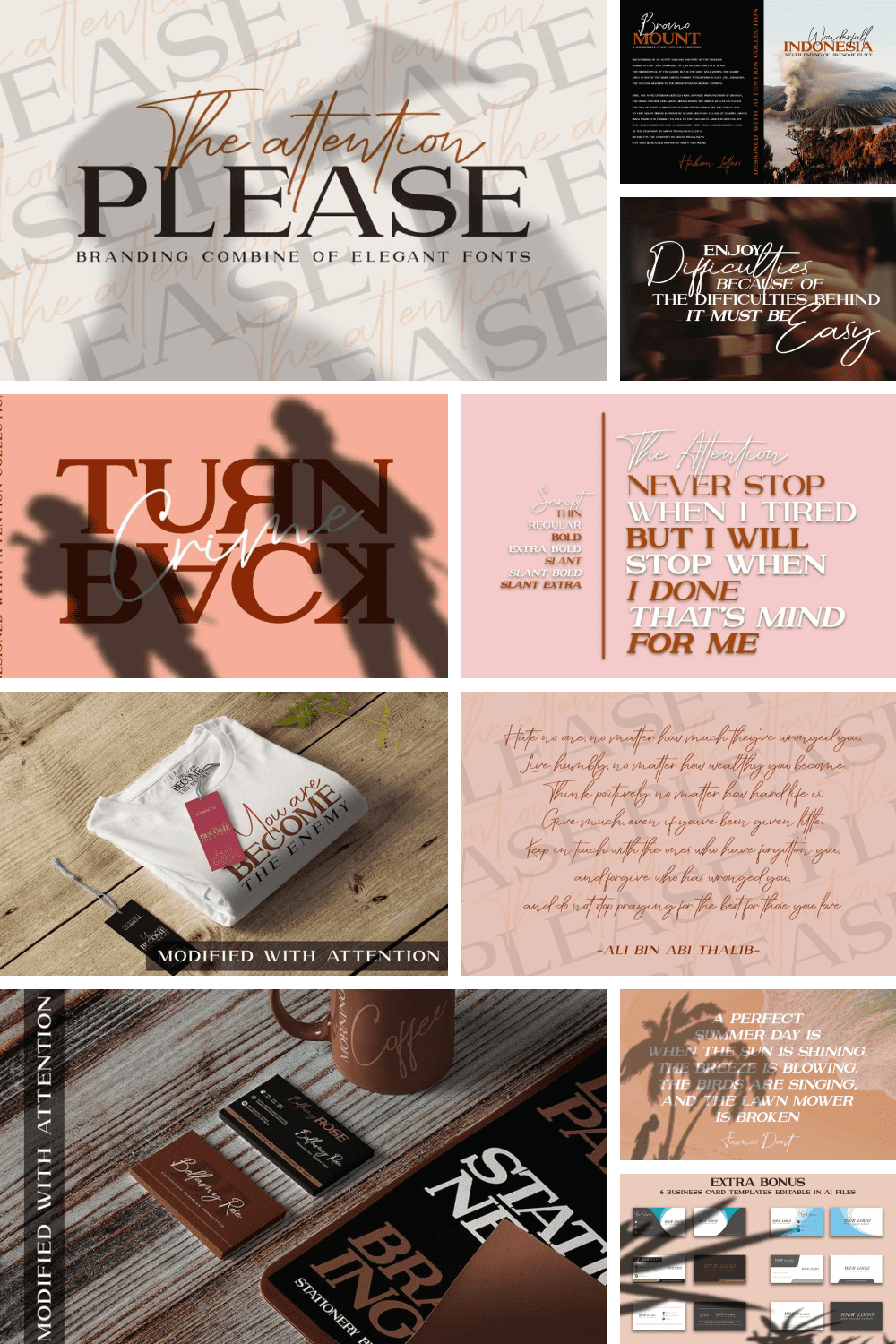 A beautiful duo font brand that makes for gorgeous logos, posters, wedding invitations, blog posts, social media, and more.