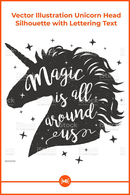 A big black magic unicorn.