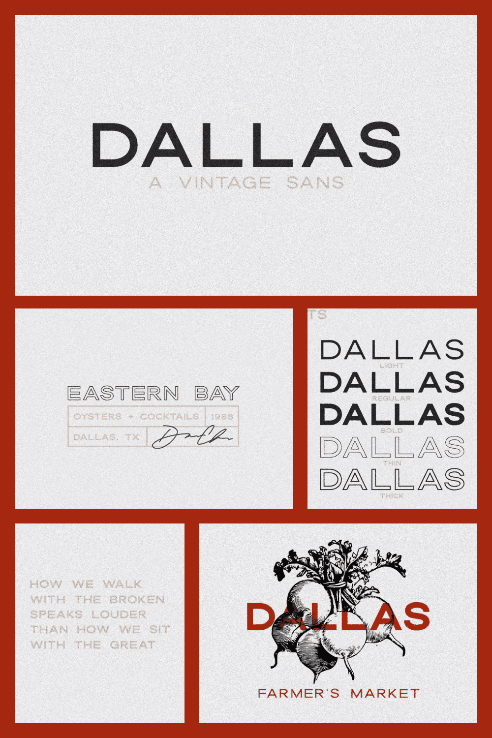 This beautiful all caps vintage sans serif is so versatile and looks great in just about any context.