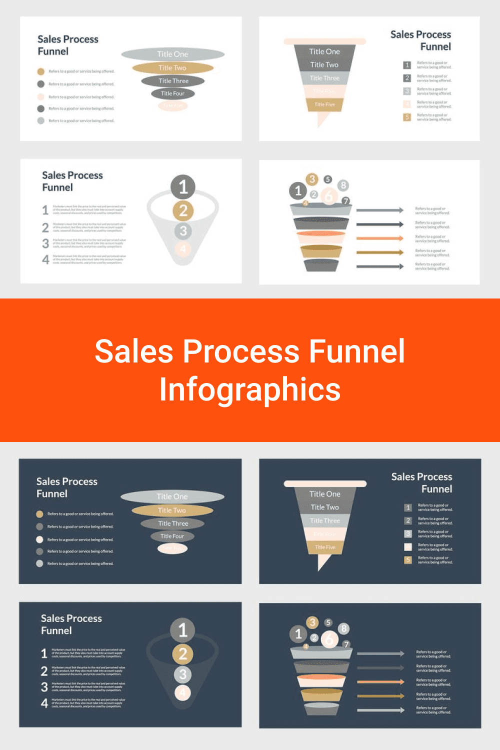 Sales Process Funnel Infographics.