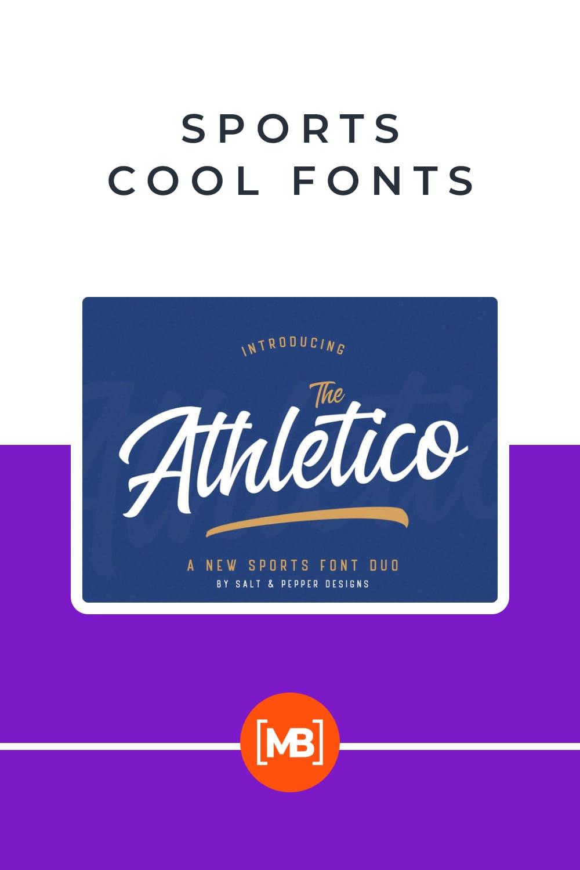 Nice and elegant sports font.