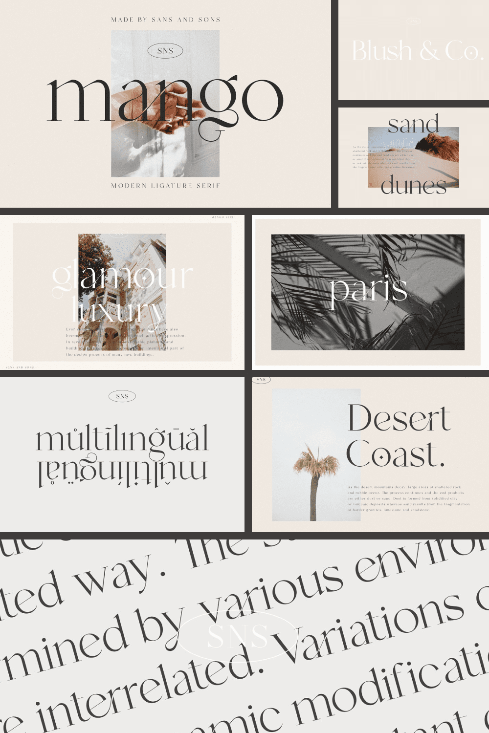 Modern Ligature with Elegant Style this is perfect for branding, logos, invitation, masterheads and more.