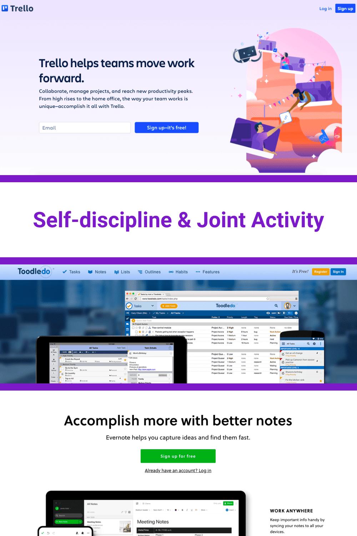 Tools for self-discipline.