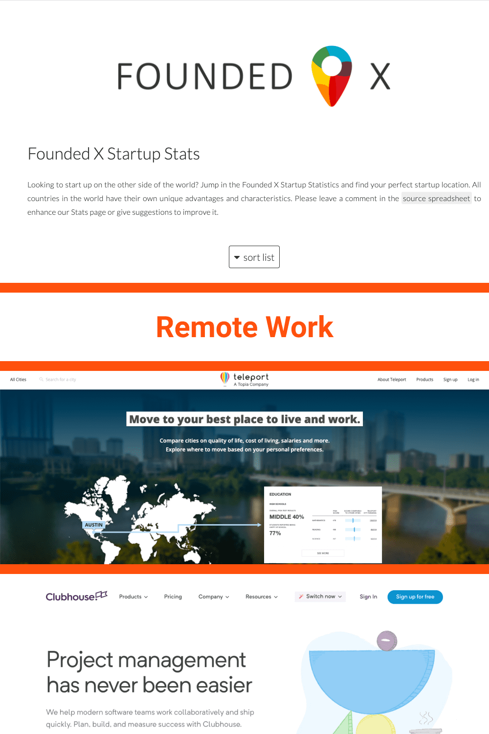 Different options for remote work.