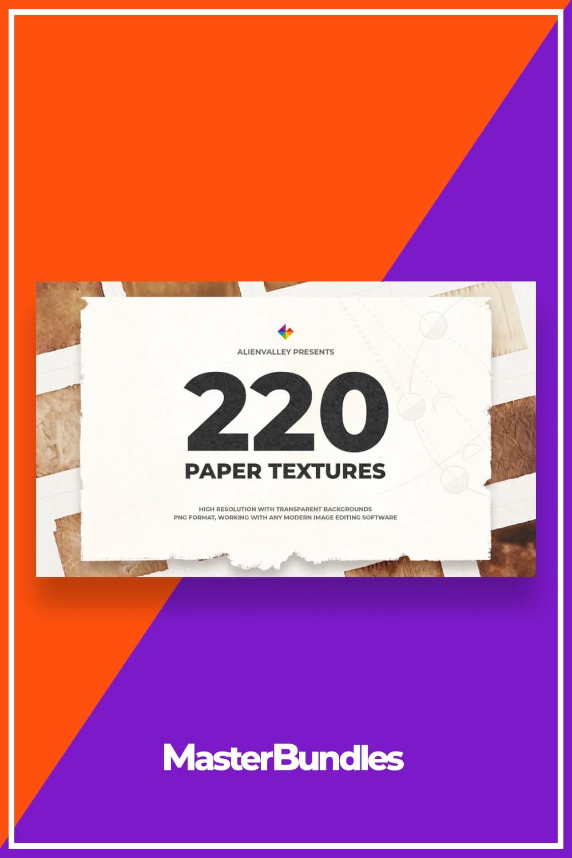 220 Unique Paper Textures.