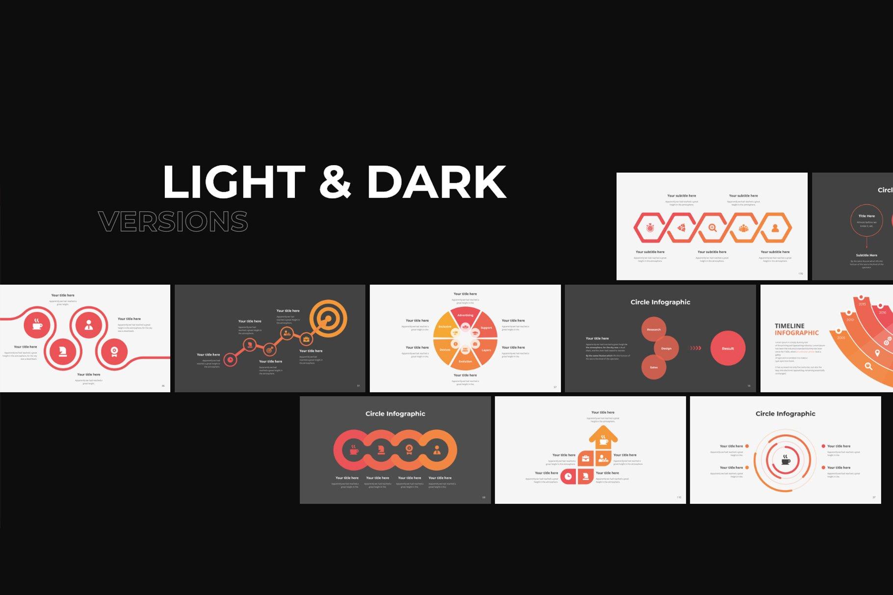 Light and dark themes.