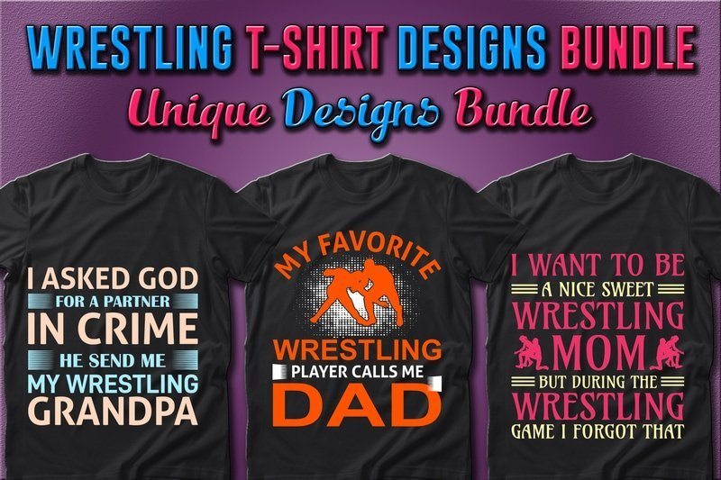 Simple T-shirts with beautiful images for wrestling lovers.