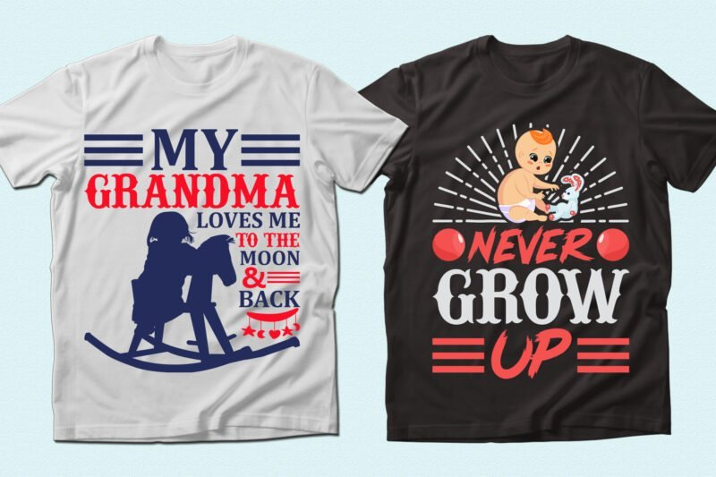 Two t-shirts with funny babes.
