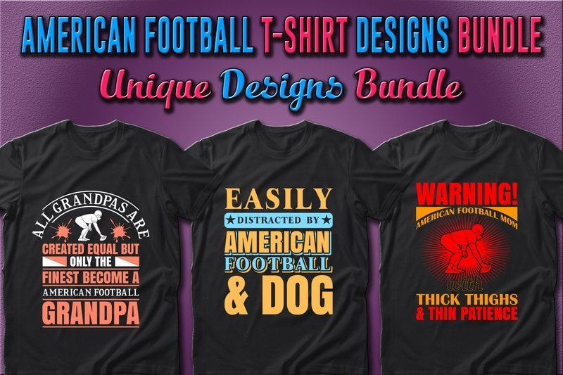 Motivated american football t-shirts.