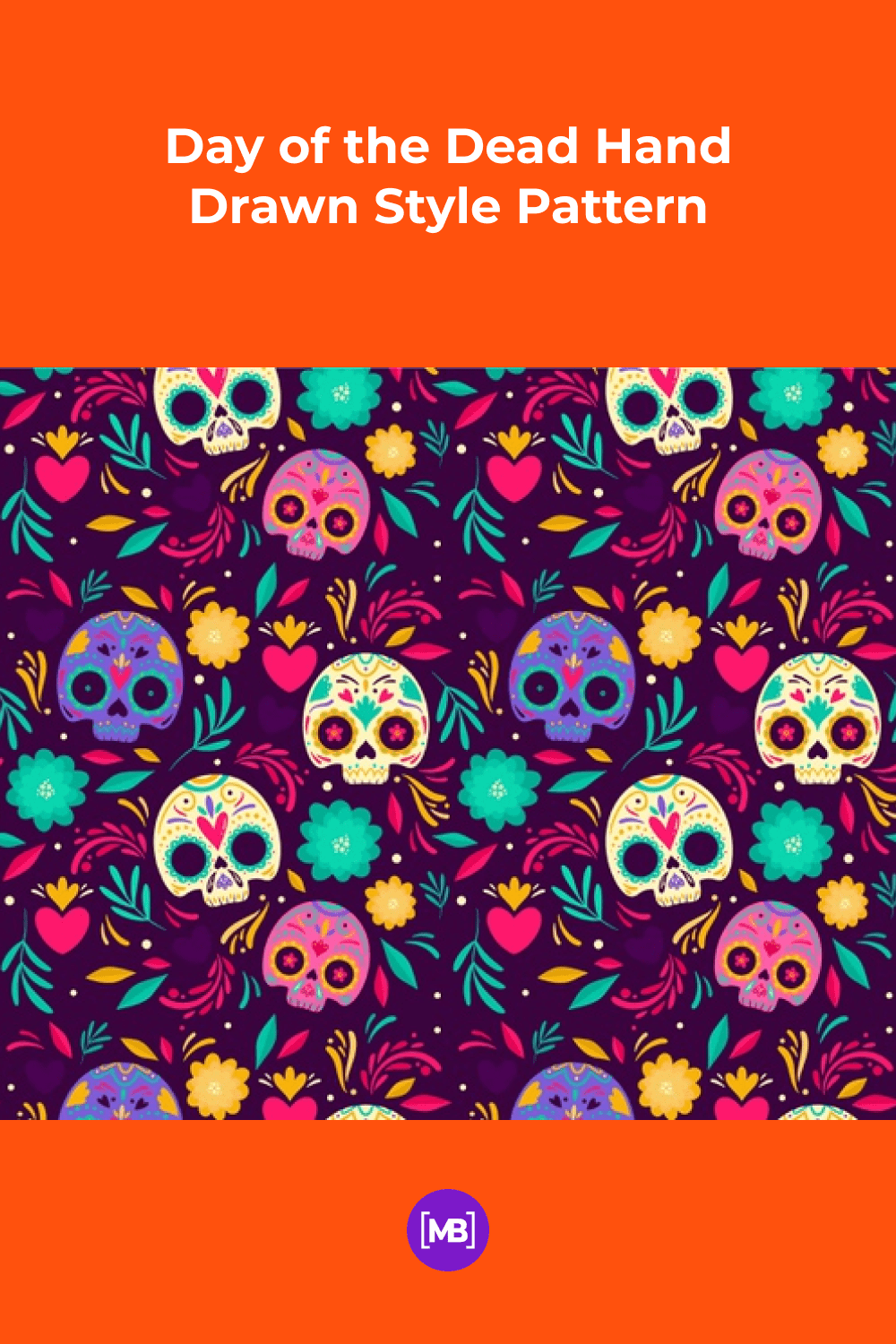 Day of the Dead Hand Drawn Style.