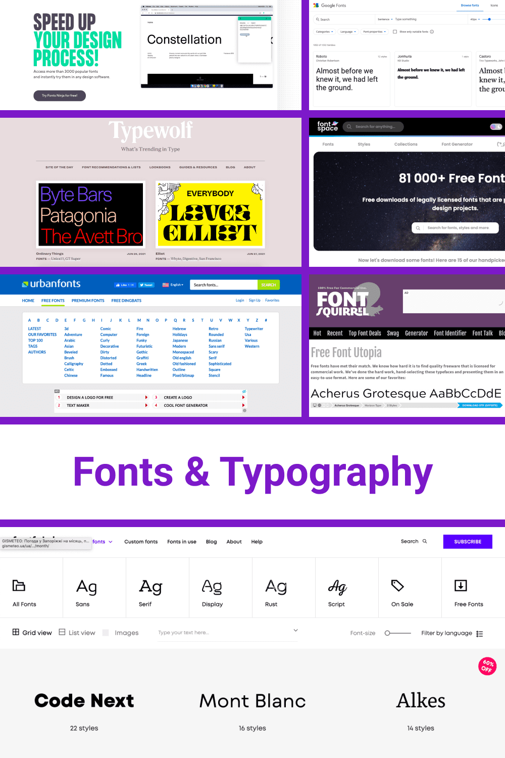 Different font size and style for all kind of presentations.