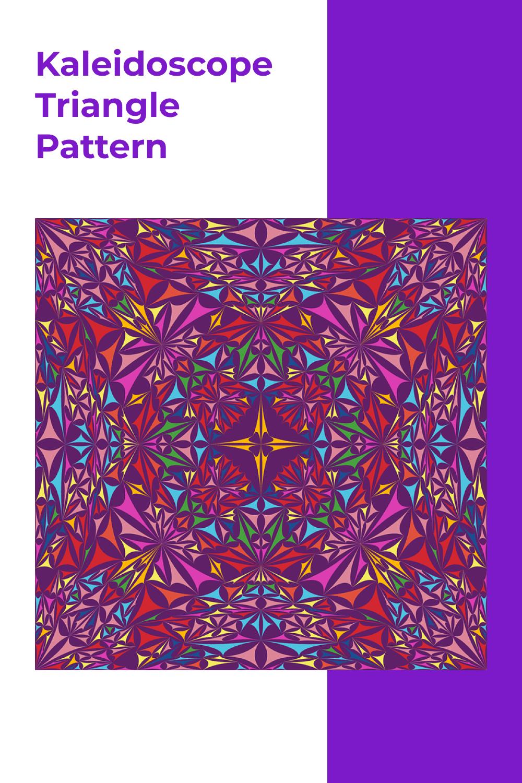 Vibrant kaleidoscope triangle.