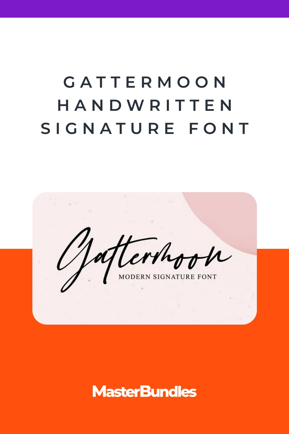 Slightly slick, slightly classy, Gattermoon is a must-have for any signature handwritten font collection.