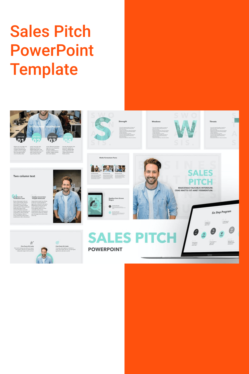 Sales Pitch PowerPoint Template.