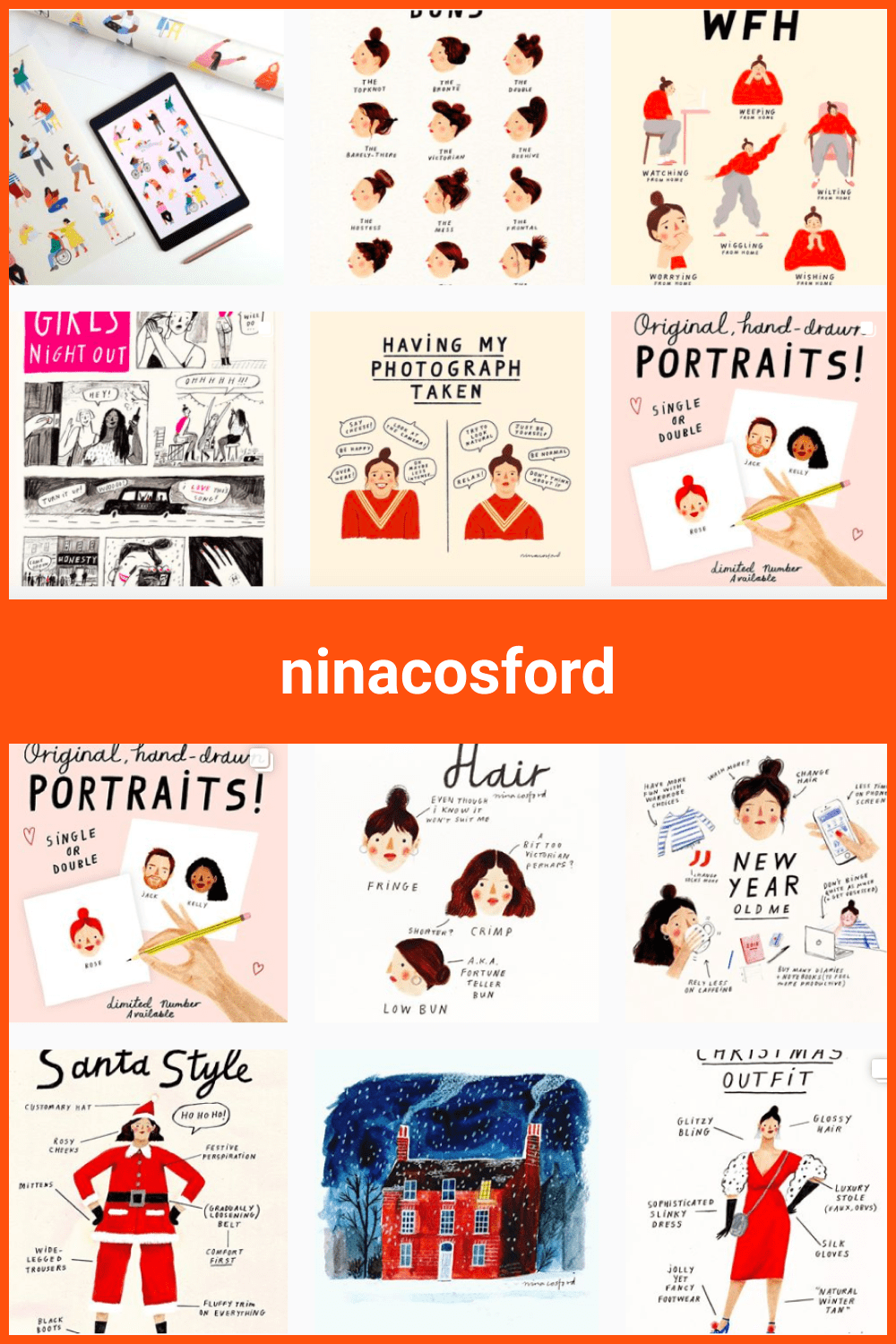 People illustration in different looks.