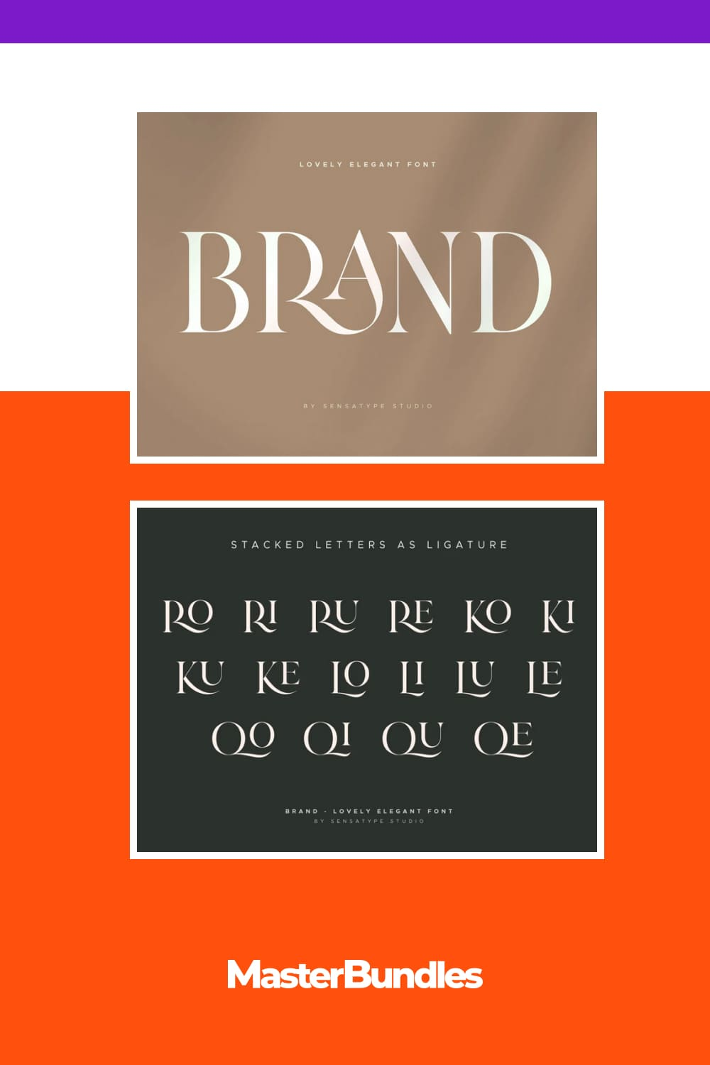 A stylish font that can be a part of a fashion magazine cover.