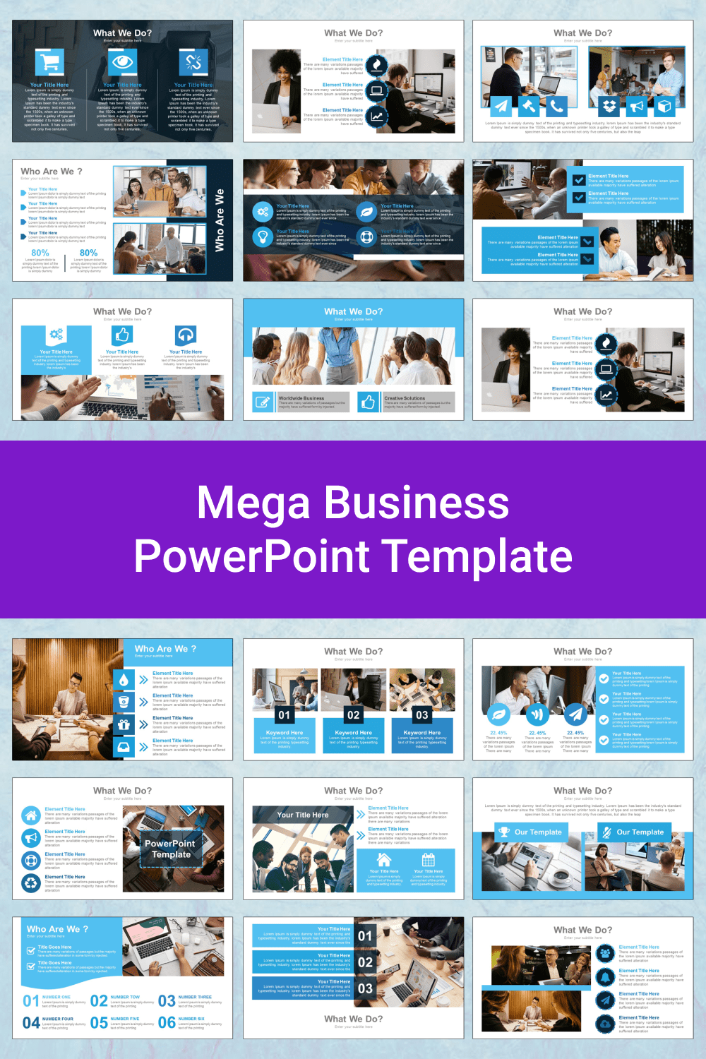 Mega Business PowerPoint Template.