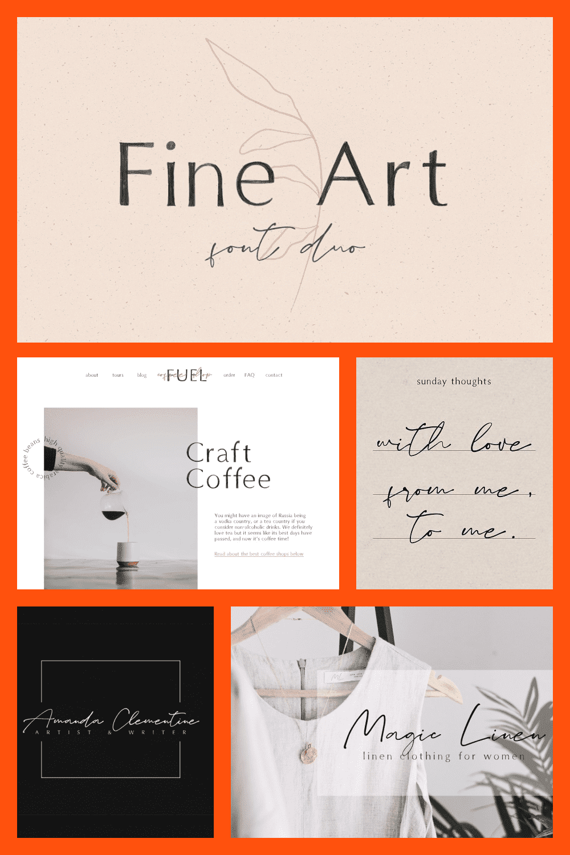 Fine Art is an aesthetic font duo. Handpainted & elegant design.
