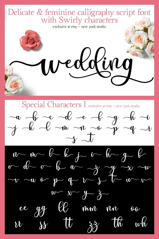 Soft, floral, musk-scented font.