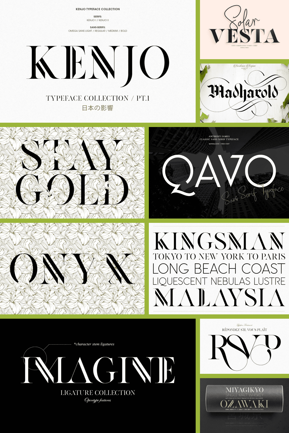 Stylish and modern font. He is worthy of the cover of the best magazines of our time.