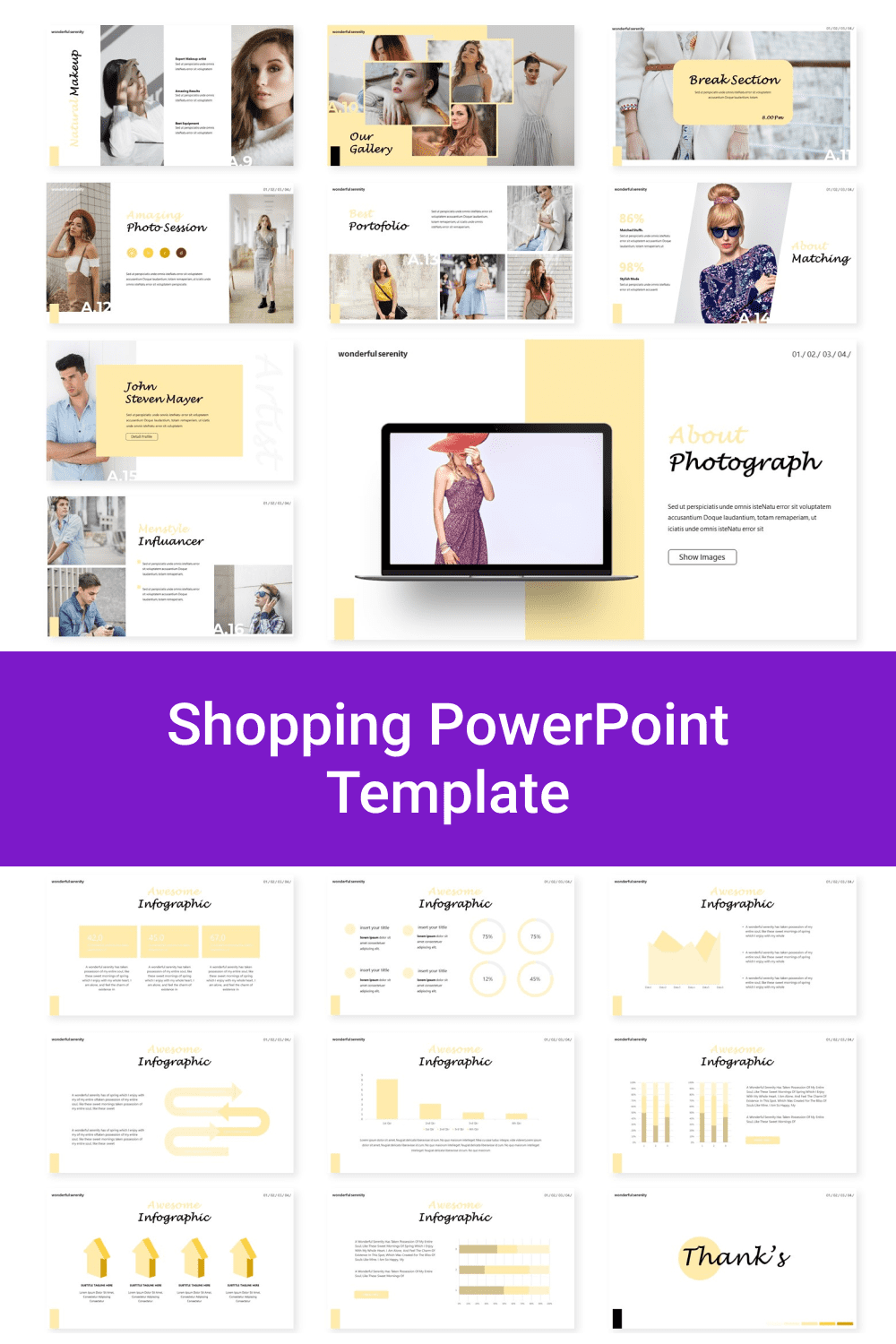 Shopping PowerPoint Template.
