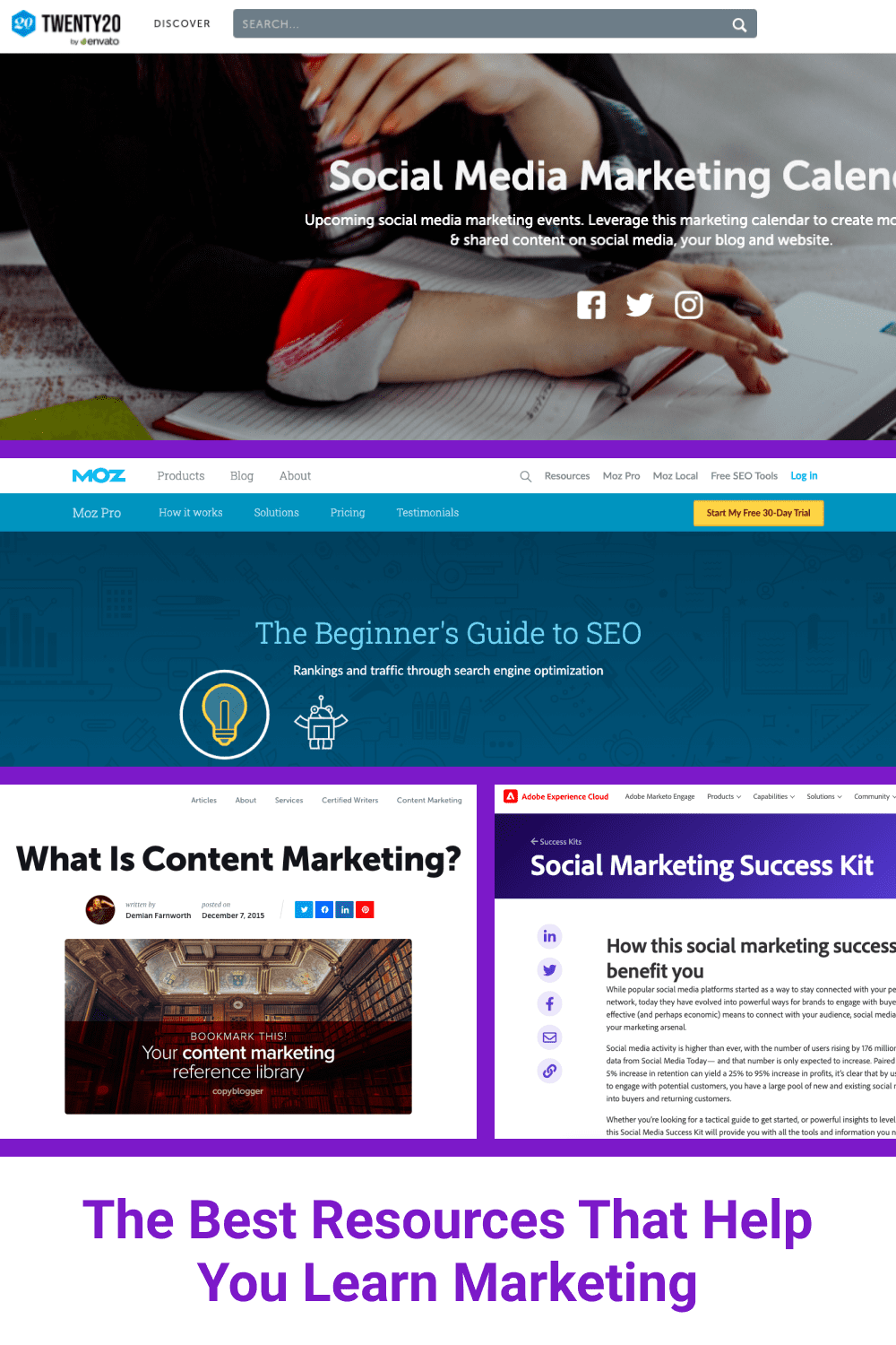 The Best Resources That Help You Learn Marketing.