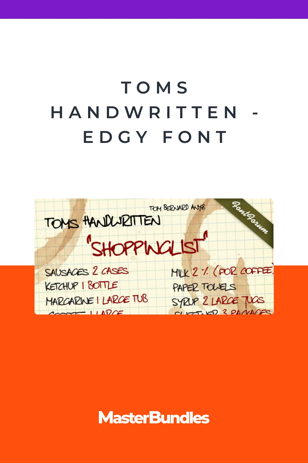 This handwritten font was brought to our attention by one of our customers.