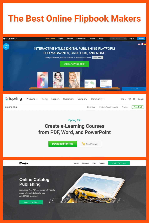 The Best Online Flipbook Makers.
