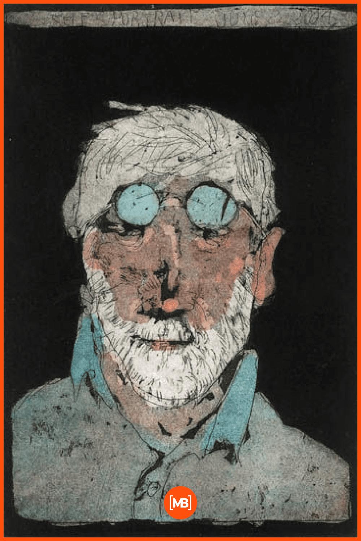 An old men in glasses.