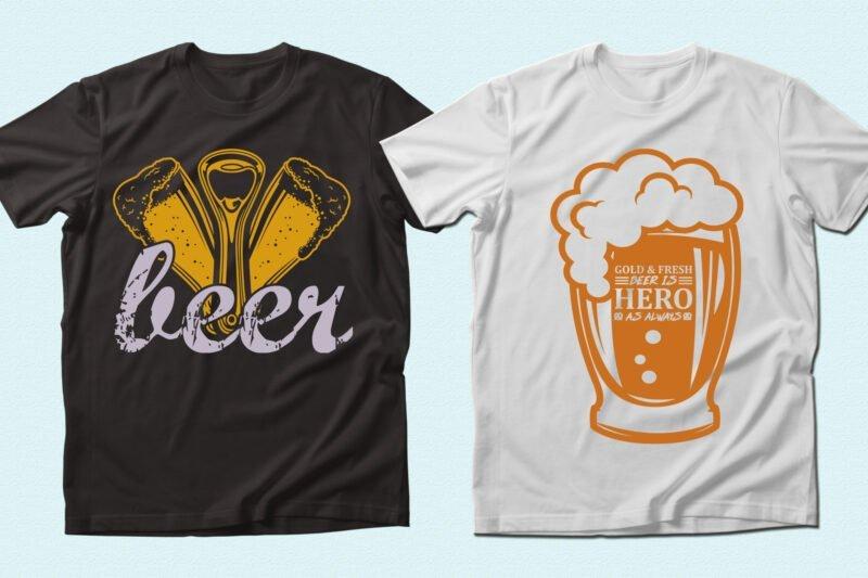 T-shirts with beer attribute.