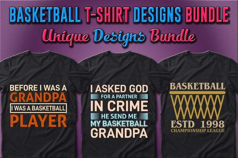 Lettering, geometric lines and bright colors are the features of the presented T-shirts.