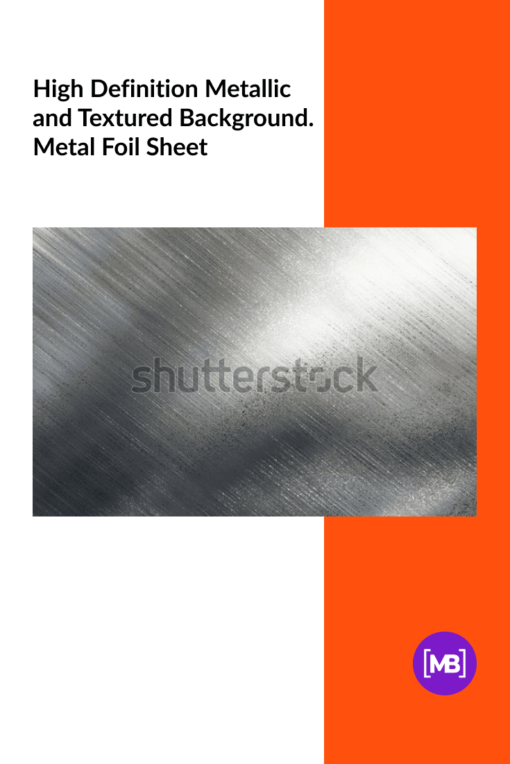 High Definition Metallic and Textured Background. Metal Foil Sheet.