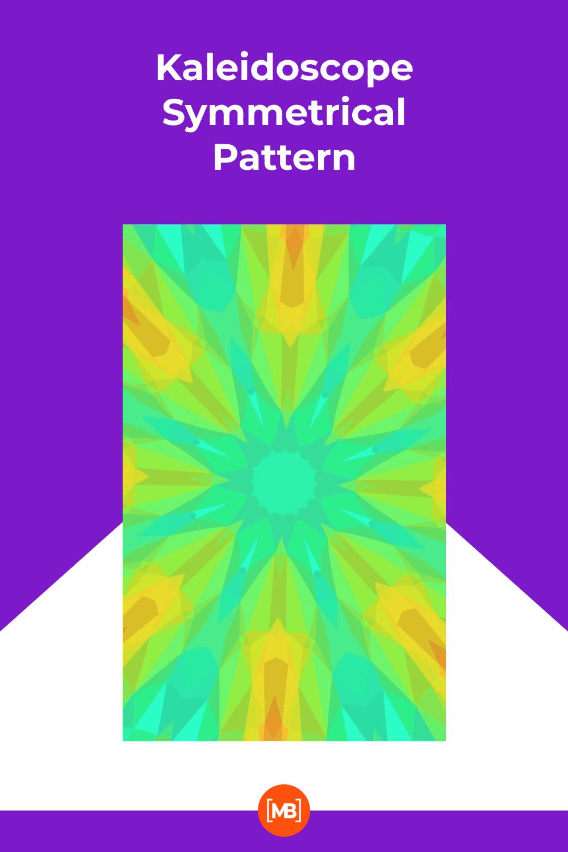 Watercolor kaleidoscope symmetrical pattern.