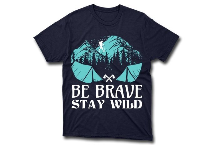 Dark t-shirts with mountains graphics.