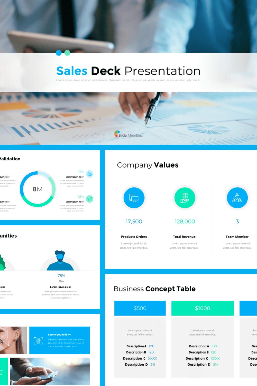 Sales Deck Theme Presentation Templates.