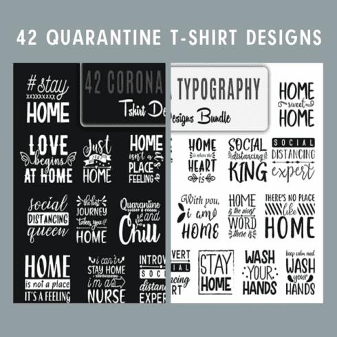 42 Quarantine T shirt Designs.
