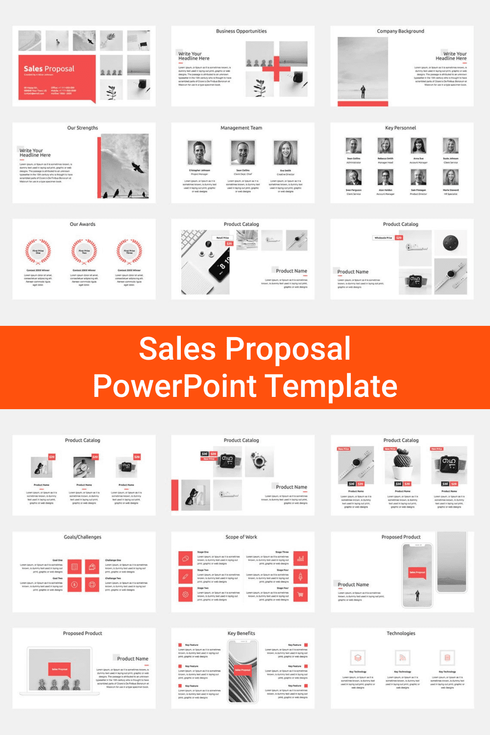 Sales Proposal PowerPoint Template.