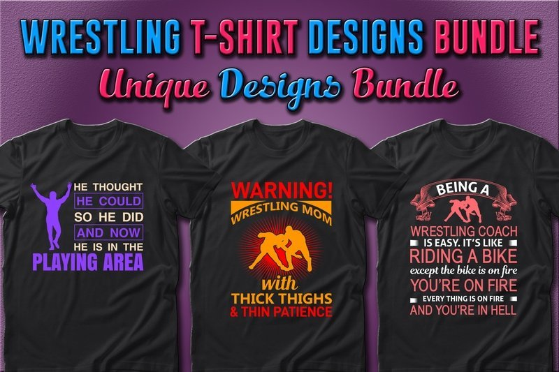 T-shirts with wrestlers that glow.