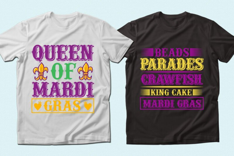 T-shirts with themed inscriptions and graphics.
