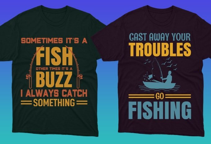 A bit of vintage style on the T-shirts and you are a professional fisherman.