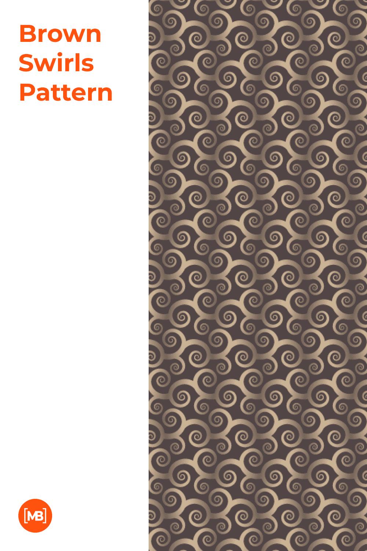 Brown Swirls Patternr.