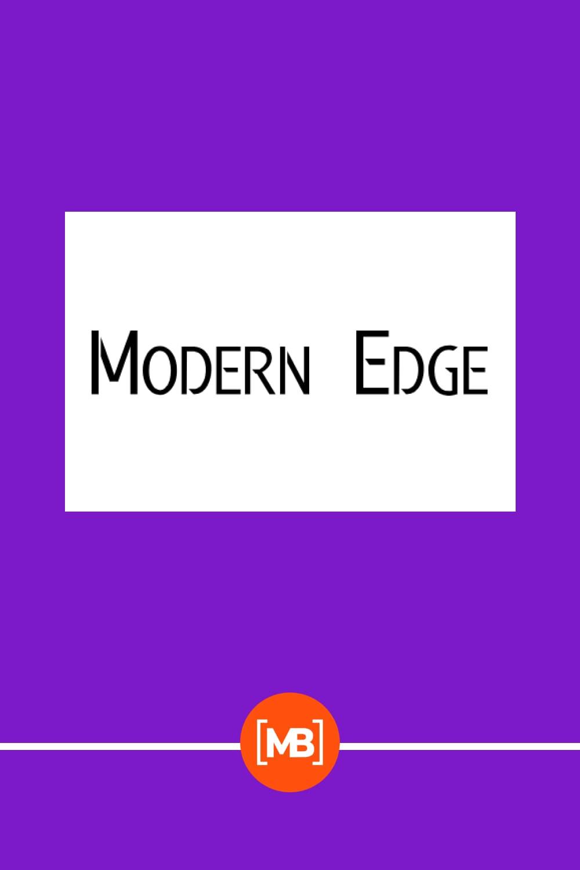 Modern urban font.
