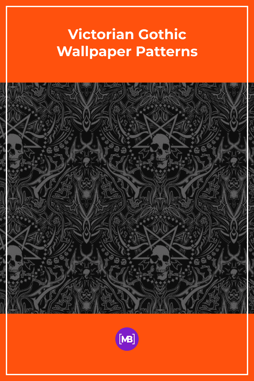 Victorian gothic style wallpaper.
