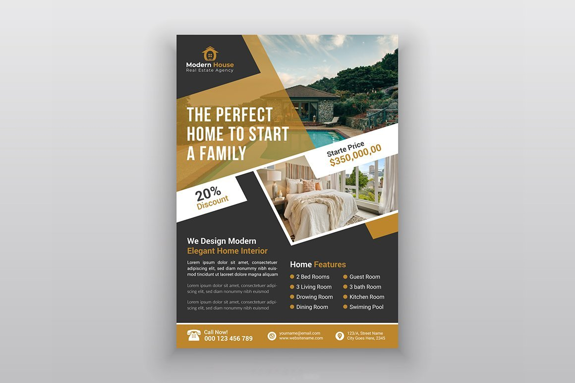 Real Estate Agency Flayer.