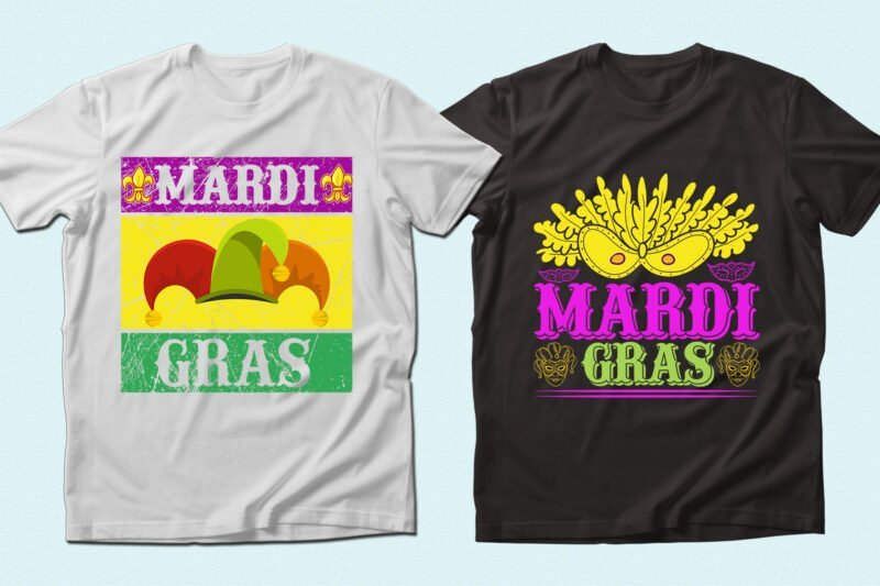 Bright and colorful T-shirts.