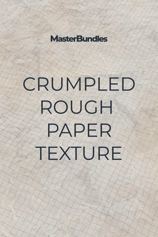 Crumpled Rough Paper Texture.