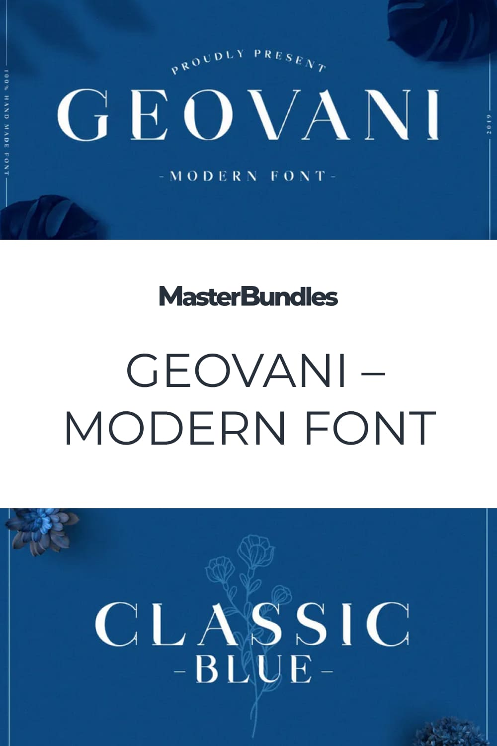 It's a modern sans font with a strong character.
