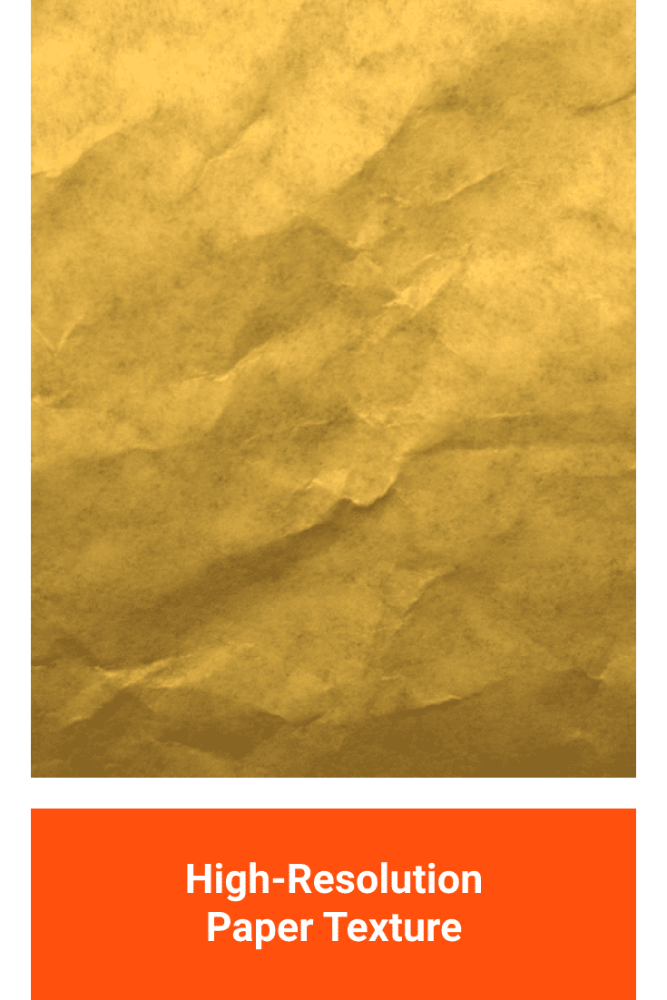 Gold sheet of crumpled paper.